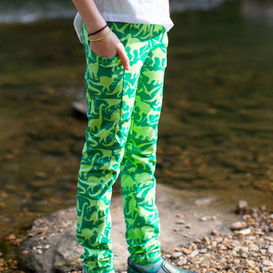 """Land Before Lime"" Dinosaurs Leggings With Pockets"