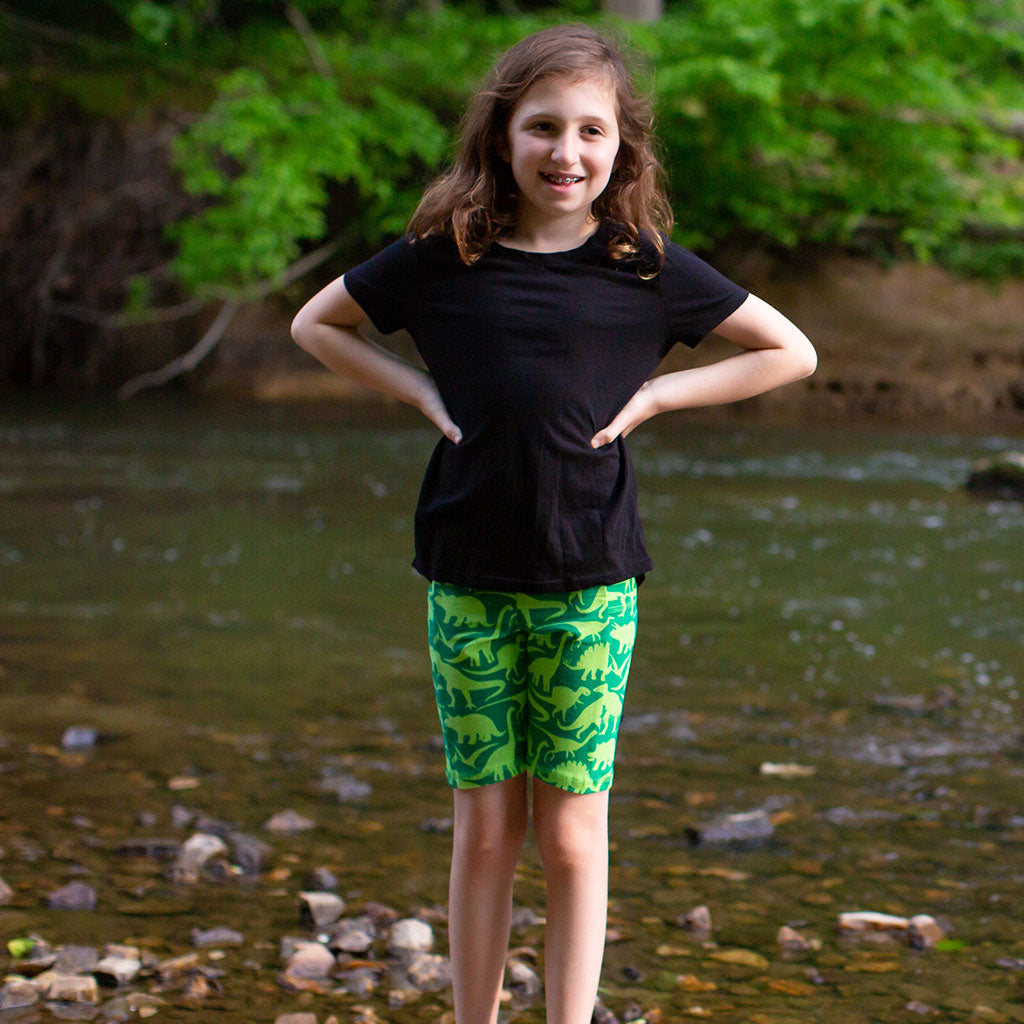 """Land Before Lime"" Dinosaurs Shorts With Pockets"