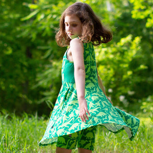 """Land Before Lime"" Dinosaurs Skater Play Dress"