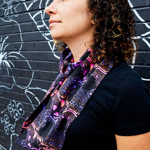 """Heart-wired"" Heart Circuits Infinity Scarf"