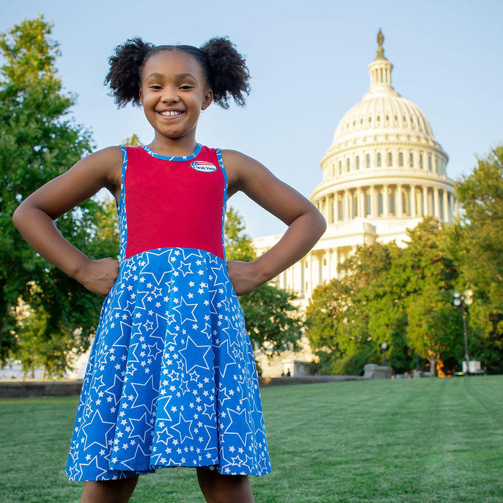 """I Will Vote"" Star-Spangled Skater Play Dress"