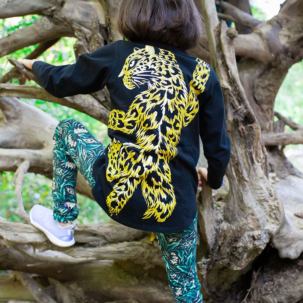 Leopard Long Sleeve Tunic Shirt