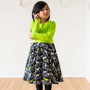 """Wickedly Brew-tiful"" Witches' Brew Twirly Play Dress with Long Sleeves - Princess Awesome - 1"