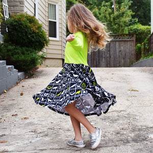 """Wickedly Brew-tiful"" Witches' Brew Twirly Play Dress with Long Sleeves - Princess Awesome - 2"