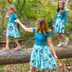 """Charm School"" Magic Short Sleeve Super Twirler Dress - Adult"