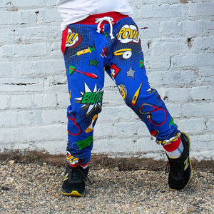 Medical Superheroes Fuzzy Fleece Joggers