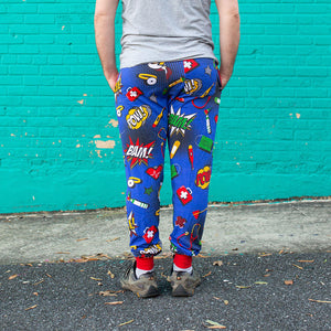 Medical Superheroes Fuzzy Fleece Joggers - Adult