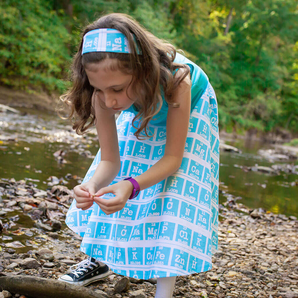 """Elements of Style"" Periodic Table Twirly Play Dress"