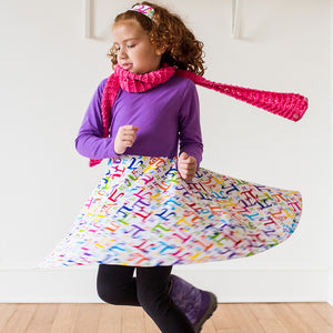 """Pi In The Sky"" Twirly Pi Play Dress with Long Sleeves - Princess Awesome - 3"