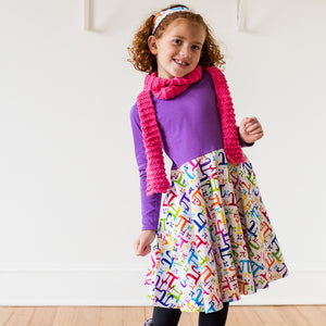 """Pi In The Sky"" Twirly Pi Play Dress with Long Sleeves - Princess Awesome - 5"