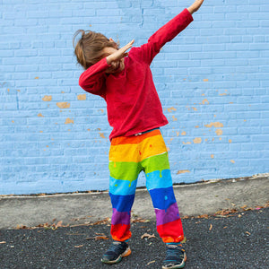 """Paint the Town"" Rainbow French Terry Jogger Pants"