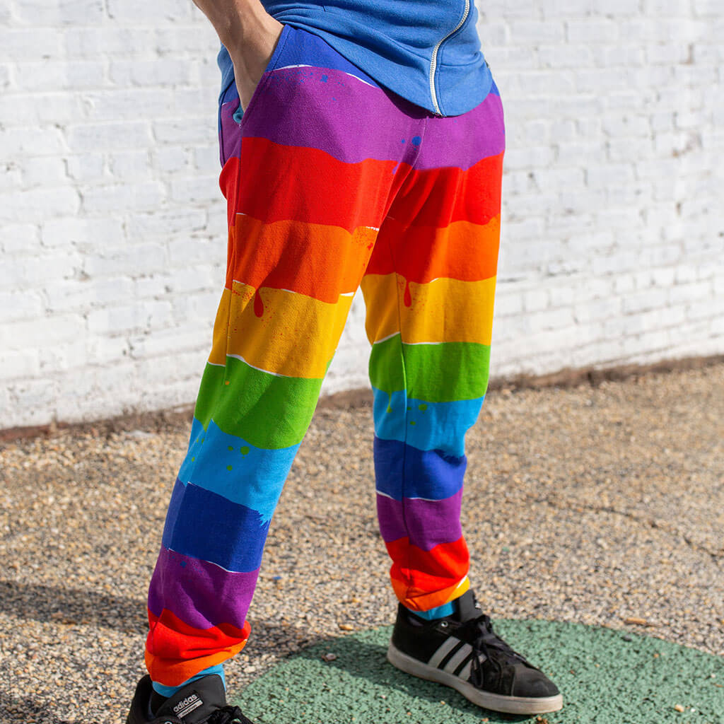 """Paint the Town"" Rainbow French Terry Jogger Pants - Adult"