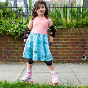 """Hello Chum"" Sharks Sleeveless Twirly Play Dress"