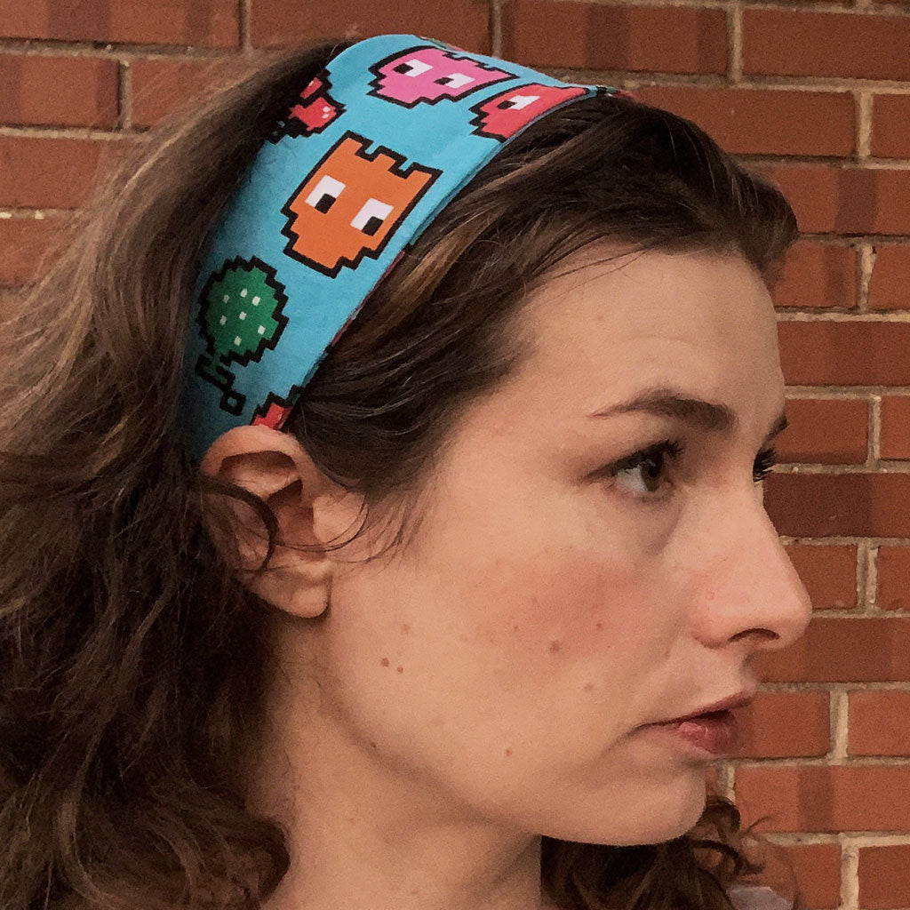 """Arcade Snacks"" Video Game Ghosts Headband - Adult"