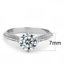 Load image into Gallery viewer, Solitaire Clear Crystal Brilliant Cut Round Stone Newest April Birthstone