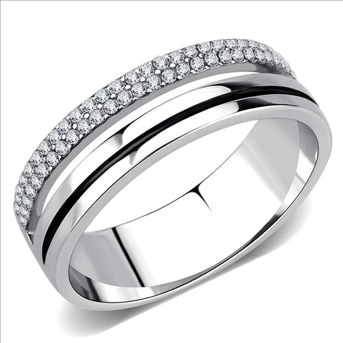 Stainless Steel Ring High polished (no plating) Men's and Women - Travel Jewelry