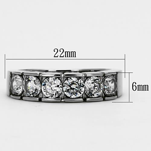 Wide Band with Six Round Crystals Newest