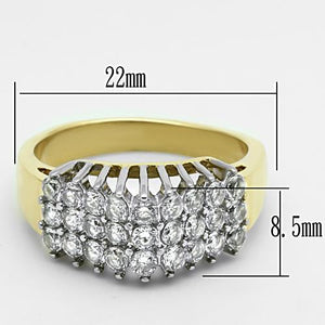 Gold Stainless Crystal Ring