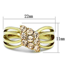 Load image into Gallery viewer, Gold IP Champagne Crystal Ring  November Birthstone