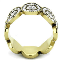 Load image into Gallery viewer, Ion Plated Gold Circular Crystal Band