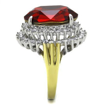 Load image into Gallery viewer, Stainless Steel Ring Women Top Grade Crystal January Birthstone Red