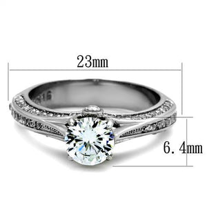 Round- Cut Center Clear Crystal Designer Band - Newest - Travel Jewelry