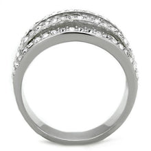 Load image into Gallery viewer, Dome Ring Stainless Steel Bezel Set Newest Style April Birthstone