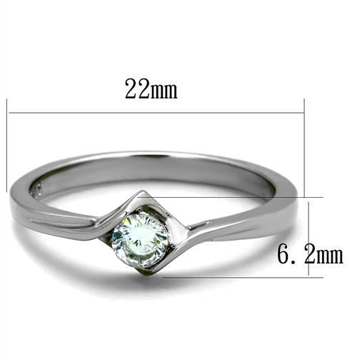 Side-Set Crystal- Stainless Steel Ring