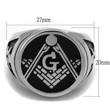 Load image into Gallery viewer, Classic Masonic Signet Ring Men's Stainless Steel Newest