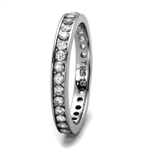 Eternity Round-cut  Band - Wedding Band Solid Stainless Steel - Anniversary- Any finger!