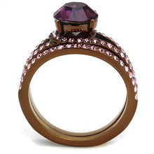 Load image into Gallery viewer, 1 Wedding Set Amethyst and Pink Ice Crystals - February Birthstone