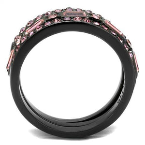 1 Wedding Set Pink Ice Eternity Bands October Birthstone