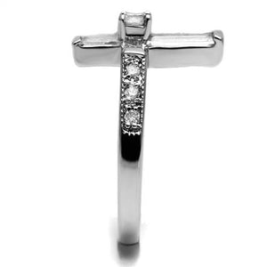 Cross Crystal Baguettes with Round Center Stone - Newest