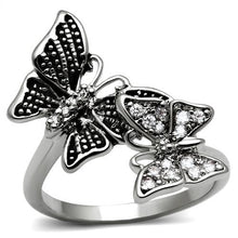 Load image into Gallery viewer, Butterfly Stainless Steel White Diamond like Crystal Setting