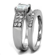 Load image into Gallery viewer, 1 Wedding Set Princess Cut with Round Crystals