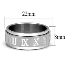 Load image into Gallery viewer, Stainless Steel Ring High polished (no plating) Men's Roman Numeral 1-12 Design