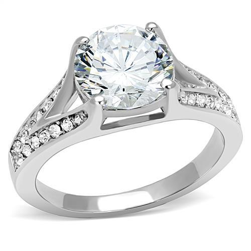 Stainless Steel Hypoallergenic - Center crystal Engagement Style - Travel Jewelry