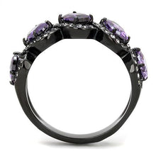 Load image into Gallery viewer, Amethyst Black Lust Crystal Ring February Birthstone