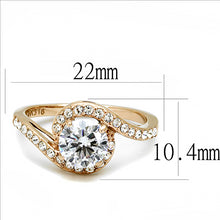 Load image into Gallery viewer, Stainless Steel Ring Rose Gold IP Newest April Birthstone