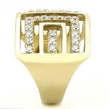Load image into Gallery viewer, Designer Replica IP Gold with Clear Crystals - Newest - April Birthstone