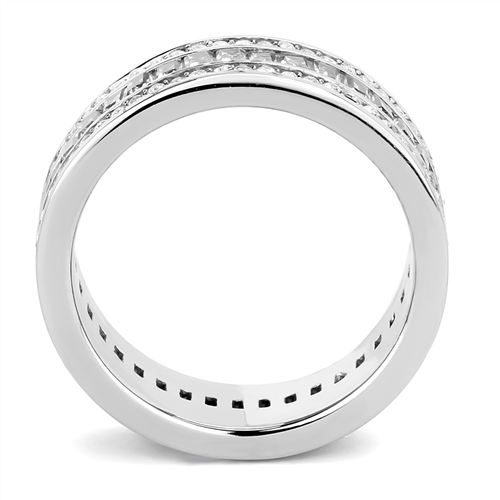 Baguette and Round Cut Clear Triple Eternity Band - Antique - Newest