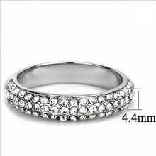 Load image into Gallery viewer, Semi Eternity Band with Pave Crystals  April Birthstone