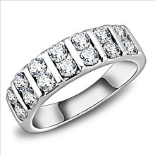 Load image into Gallery viewer, Double Crystal Band- Stainless Steel Ring Both Men's and Women
