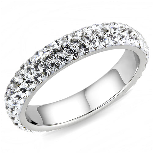 Crystal Eternity Band - Stackable - Most Popular - April Birthstone