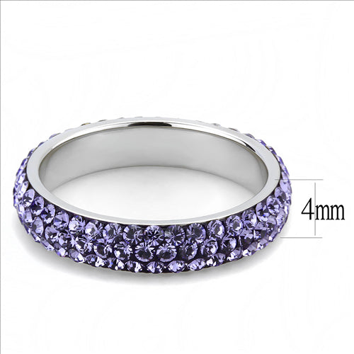 Crystal Eternity Band - Purple Light - Stackable -Most Popular