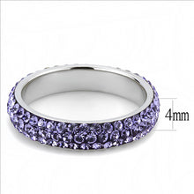 Load image into Gallery viewer, Crystal Eternity Band - Purple Light - February Birthstone -Most Popular