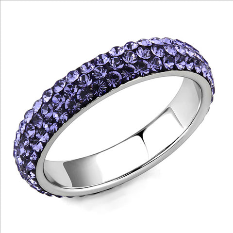 Crystal Eternity Band - Purple Light