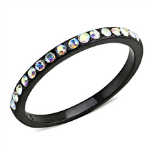 Load image into Gallery viewer, Mystic Shimmering Crystals Aura Borealis effect! Ion Black Band - Minimalistic