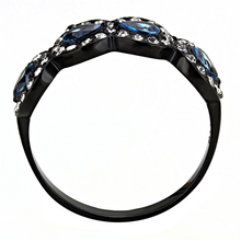 Load image into Gallery viewer, Black IP March Birthstone Halo Design