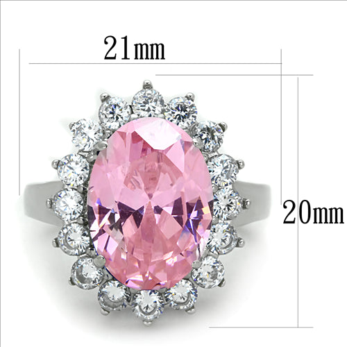 Pink Princess- Oval Cut Stainless Steel Ring